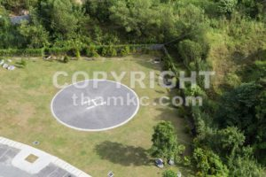 Helipad for helicopter landing within greenery - ThamKC Royalty-Free Photos