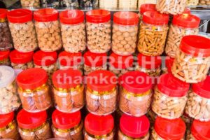 Variety Chinese New Year cookies in jars - ThamKC Royalty-Free Photos