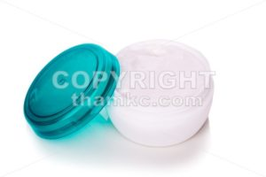 Skincare cosmetic jar with cream on white background - ThamKC Royalty-Free Photos
