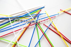 Close-up on pile of pick up sticks fun game overlapping - ThamKC Royalty-Free Photos