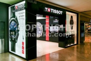KUALA LUMPUR, Malaysia, June 25, 2017: Tissot is a Swiss watchmaker. The company was founded in Le Locle, Switzerland by Charles-Félicien Tissot and his son Charles-Émile Tissot in 1853. - ThamKC Royalty-Free Photos