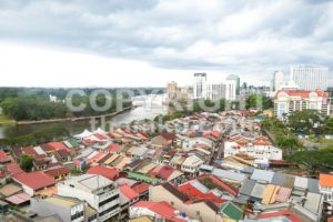 KUCHING, Malaysia, June 25, 2017:  Overview of Kuching city waterfront, popular tourism destination in Sarawak - ThamKC Royalty-Free Photos