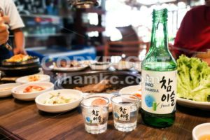 Kuala Lumpur, Malaysia, June 26, 2017:  Jinro Chamisul Soju has been the world's best-selling soju for 12 consecutive years and has earned numerous accolades. Now available in Malaysia. - ThamKC Royalty-Free Photos