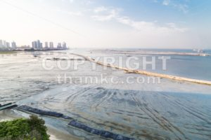 Sea land reclaiming activity at Gurney drive Penang Malaysia - ThamKC Royalty-Free Photos
