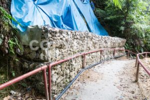 Slope and earth retention wall management in tropical hilly terrain - ThamKC Royalty-Free Photos