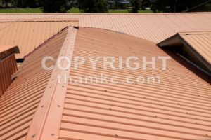 Strip of running metal roof of a building - ThamKC Royalty-Free Photos