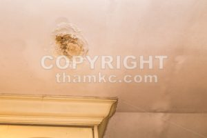 Roof leakages results damage ugly corrosion on plaster ceiling - ThamKC Royalty-Free Photos