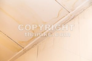 Roof leakages results ugly water mark on ceiling - ThamKC Royalty-Free Photos