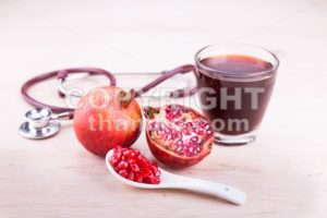 Organic Pomegranate juice with high anti-oxidant good for health - ThamKC Royalty-Free Photos