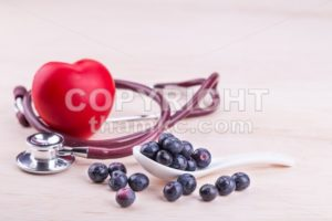 Blueberries rich in anti-oxidants and flavonoid anthocyanin has health benefits. - ThamKC Royalty-Free Photos