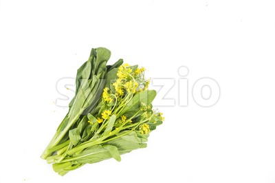 Bunch of floral choy sum green vegetable popular among the Chinese. Stock Photo