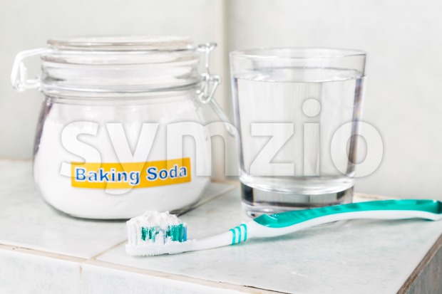 Baking soda used to brighten teeth and remove plague from gums