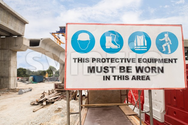 Safety Signage at construction site