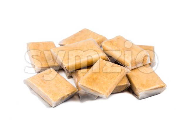 Kacang tumbuk or mashed peanut nuggets, a popular snack in South East Asia Stock Photo