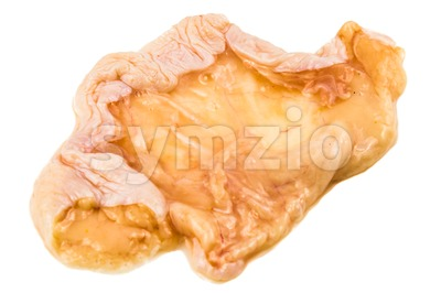 Oily undercoat layer of chicken skin removed from breast meat Stock Photo