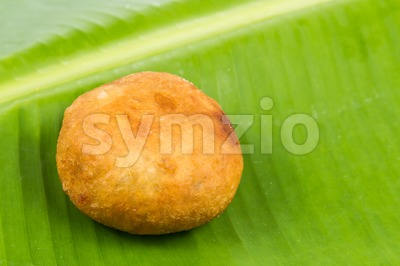 Kuih Cucur Badak, a traditional Malay delicacy Stock Photo