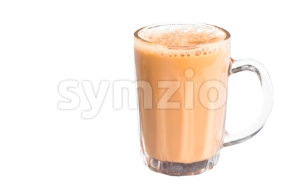Tea with milk or popularly known as Teh Tarik in Malaysia Stock Photo