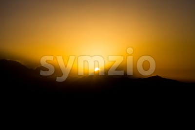Sunrise over Annapurna Himalayan range, Nepal Stock Photo