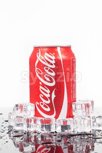 KUALA LUMPUR, FEBRUARY 4, 2016: Coca-cola maintained as the market leader of the cola soft drink segment in Malaysia market in the recent release of Stock Photo