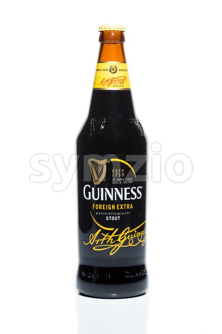 KUALA LUMPUR, February 24, 2016: Guinness Stout maintain its market leader position in Malaysia stout segment of the beer market. Guinness Stout is Stock Photo