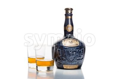 KUALA LUMPUR, February 24, 2016: Royal Salute is one of the premium scotch available in Malaysia. Royal Salute is a brand of Scotch whisky produced by Stock Photo