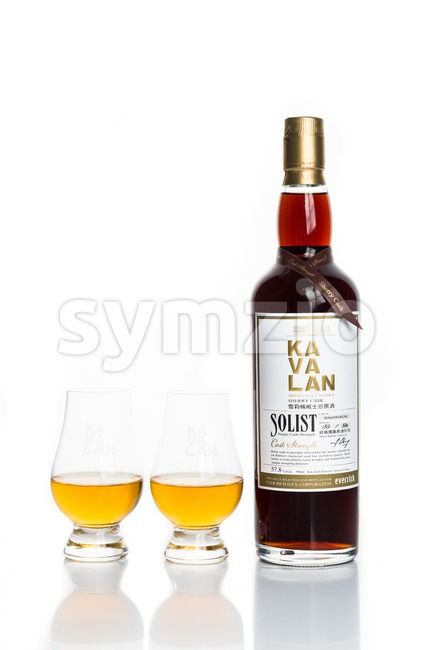 KUALA LUMPUR, February 24, 2016: Taiwan's leading whiskey brand, Kavalan is now available in Malaysia. Kavalan single malt whiskey is produced by King Stock Photo