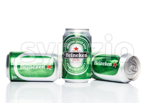 KUALA LUMPUR, February 24, 2016: Heineken is the market leader of the premium beer segment in Malaysia. Heineken is marketed by GAB Bhd. Stock Photo