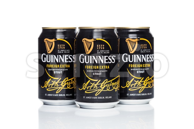 KUALA LUMPUR, February 24, 2016: Guinness Stout maintain its market leader position in Malaysia with 57% share in the stout segment of the beer Stock Photo