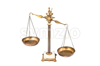 Unbalanced lopsided scale denotes unfairness Stock Photo
