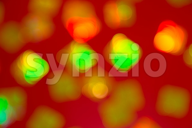Blurred and defocused background of multiple red lanterns