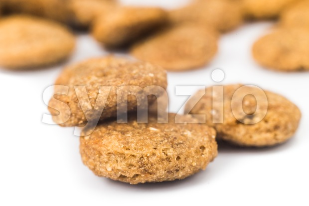 Close up of crunchy dog kibbles Stock Photo