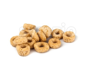 Close up on generic ring shaped cereal Stock Photo