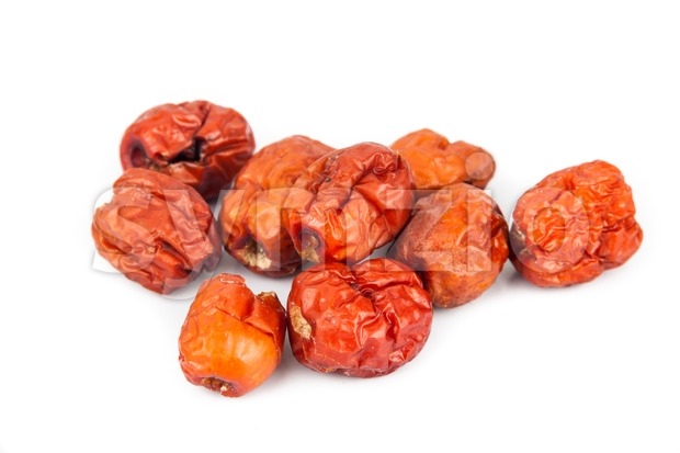 Close up and selective focus on the dried Chinese Red Dates Stock Photo