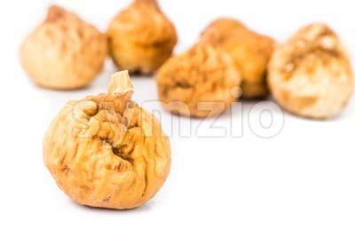 Close up and selective focus on the dried figs Stock Photo