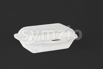 Styrofoam Lunch Boxes are convenient but not environmental friendly Stock Photo