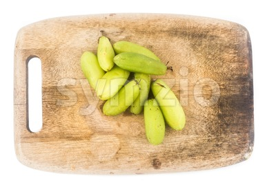 Close up of the local carambola fruit, also known as buah belimbing assam or belimbing wuluh in Malaysia and Indonesia Stock Photo