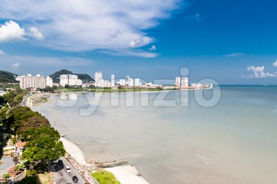 Overview of Penang Gurney Drive, popular tourist destination in Malaysia Stock Photo