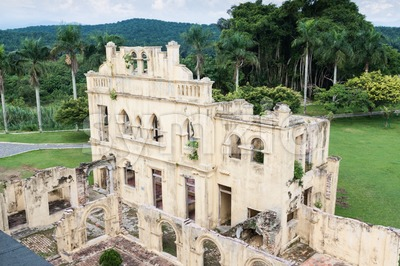 Abandoned Kellies Castle in Batu Gajah is one of the popular tourism landmark in Malaysia Stock Photo