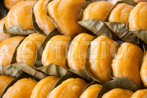 Popular Malaysian sweet desert known as Ang Koh Stock Photo