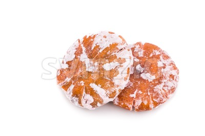 Dried sweetened tangerine, an common ingredient in traditional Chinese medicine Stock Photo