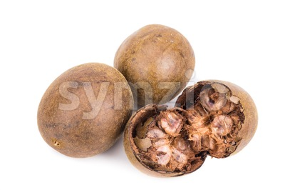 Lo Han Guo, Monk or Buddha fruit in white background Stock Photo