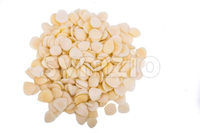 Chinese apricot kernels also known as Nan Bei Xing Stock Photo