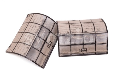 Air conditioning unit filters with full of dust and particles Stock Photo