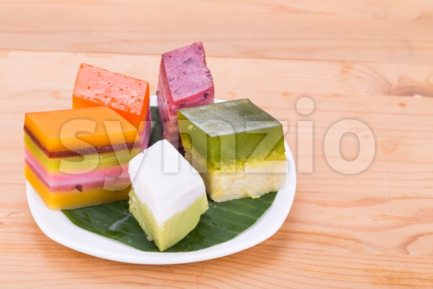 Malaysia popular assorted sweet dessert or known as kuih kueh Stock Photo