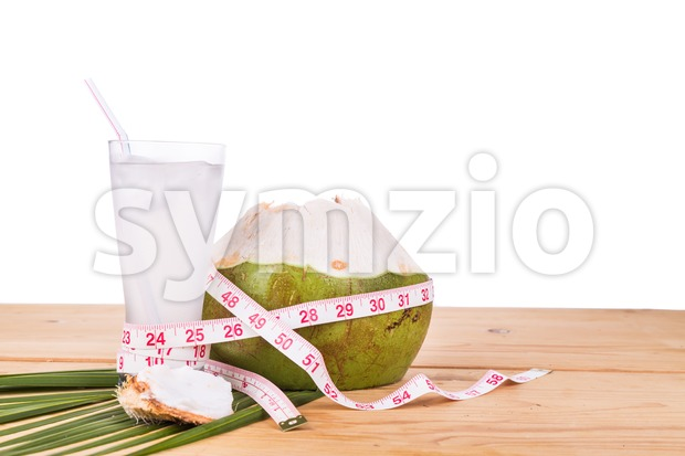 Healthy, natural and fresh coconut juice helps in body weight loss management