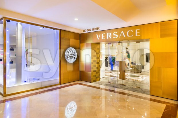 KUALA LUMPUR, MALAYSIA, May 20, 2016: The Versace outlet in KLCC, Kuala Lumpur. Versace is an Italian fashion company and trade name founded by Gianni Stock Photo