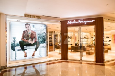 KUALA LUMPUR, MALAYSIA, May 20, 2016: The Salvatore Ferragamo store in KLCC, Kuala Lumpur.  Ferragamo produces luxury goods including shoes, handbags, Stock Photo