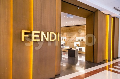 KUALA LUMPUR, MALAYSIA, May 20, 2016: Exterior of the Fendi boutique in KLCC, Kuala Lumpur.  Fendi is a multinational luxury goods brand owned by LVMH Stock Photo
