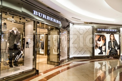 KUALA LUMPUR, MALAYSIA, May 20, 2016:  Retail outlet of Burberry at KLCC, Kuala Lumpur.  Burberry Group plc is a British luxury fashion house. Stock Photo