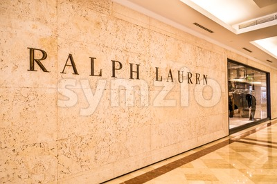 KUALA LUMPUR, MALAYSIA, May 20, 2016:  Ralph Lauren signage on their outlet at KLCC, Kuala Lumpur.  Ralph Lauren corporation is a global Stock Photo
